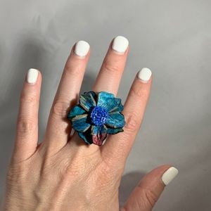 Jewelry - Tye Dye Flower Ring